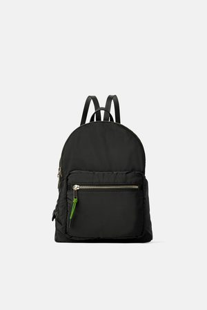 Zara Nylon neon backpack
