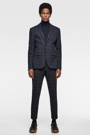 Zara Comfort fit check suit blazer