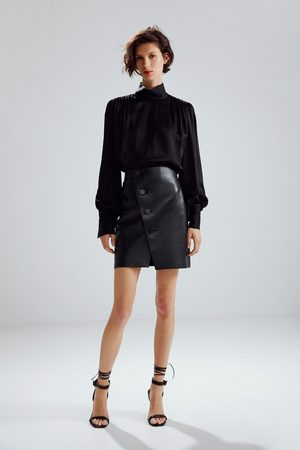 Zara Limited edition leather mini skirt