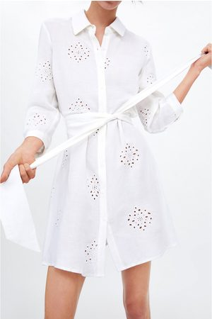 Zara Embroidered tunic with belt