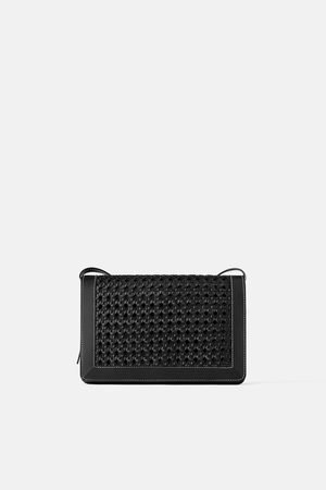 Zara Plaited leather crossbody bag