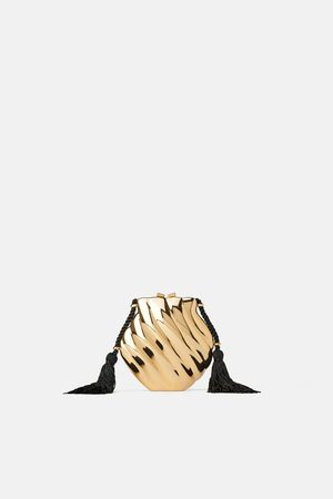 Zara Shell minaudiere crossbody bag