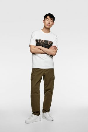 Zara T-shirt with camouflage stripes