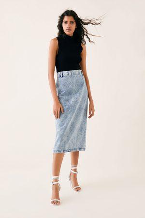 Zara Skirt zw premium '80s pencil acid black