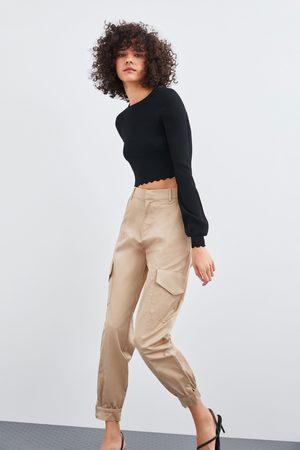 Zara Glossy cargo trousers