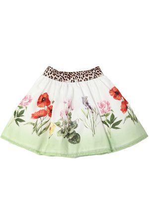 MONNALISA Tytöt Printtihameet - Flowers Print Cotton Muslin Skirt