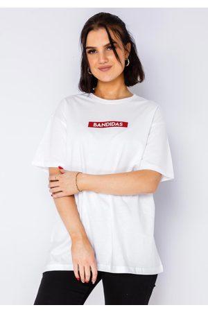 BANDIDAS Red Box Logo Tee In White