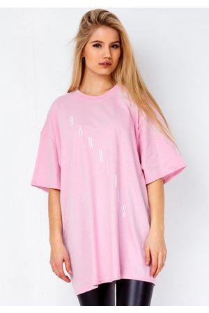 BANDIDAS Diagonal T-shirt In Baby Pink