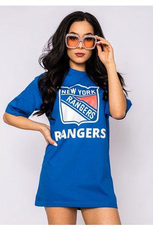 Fiorellashop New York Rangers Boyfriend Tee In Blue
