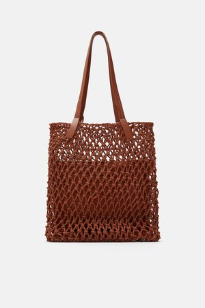 Zara Tote bag with knotted fabric