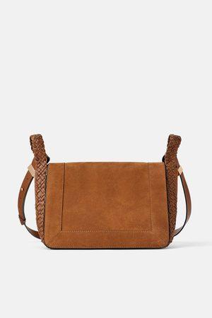 Zara Split suede crossbody bag