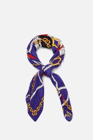 Zara Neckerchief with knot and chain print