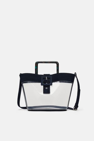 Zara Vinyl and leather tote bag