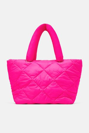 Zara Neon quilted tote bag