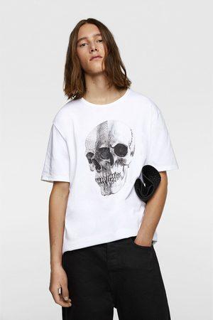 Zara Beaded skull t-shirt