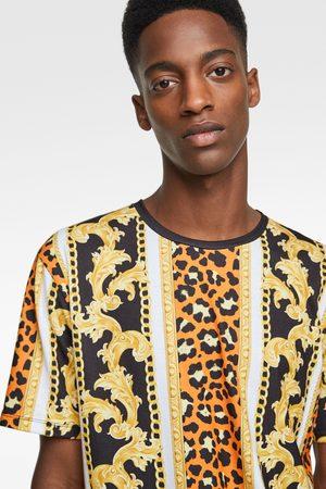 Zara Neon chain print t-shirt