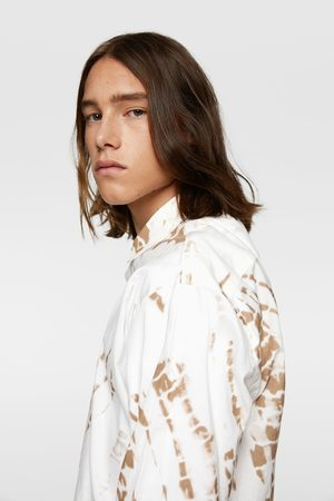 Zara Tie-dye poplin t-shirt