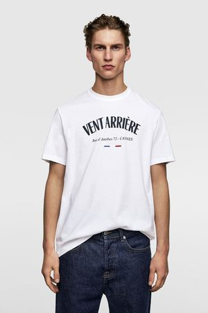 Zara Contrasting slogan t-shirt