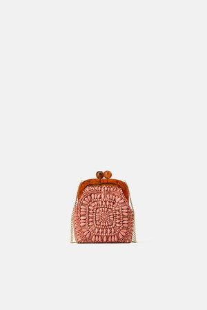 Zara Beaded mini crossbody bag with clasp