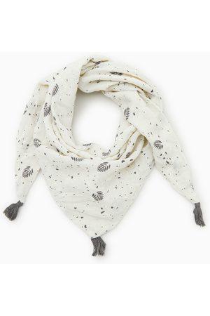 Zara Leaf print triangle scarf
