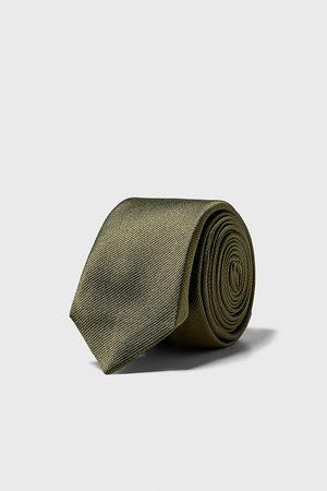 Zara Textured skinny tie