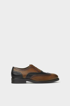 Zara Two-tone leather brogues