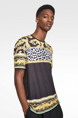Zara Neon baroque print t-shirt