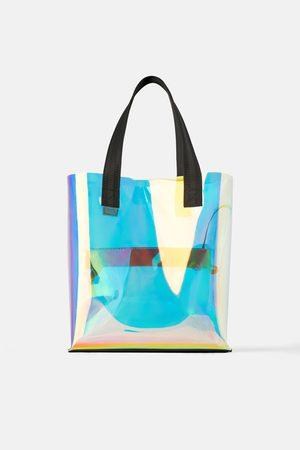 Zara Iridescent tote bag
