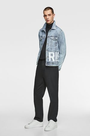 Zara Denim jacket with slogan