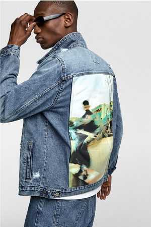 Zara Printed denim jacket