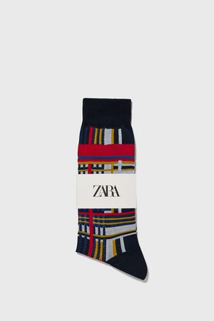 Zara Check mercerised socks