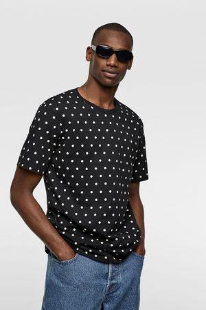 Zara Miehet T-paidat - Polka dot print t-shirt