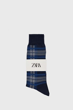 Zara Miehet Sukat - Check mercerised socks