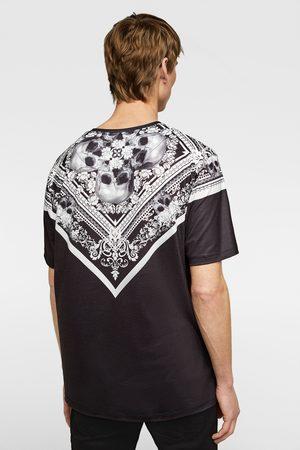 Zara Miehet T-paidat - Bandanna print t-shirt