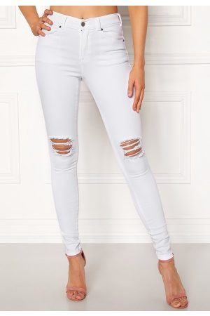 Dr Denim Lexy White Ripped Knees XS