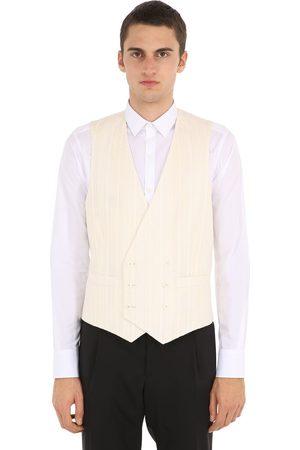 LARDINI Double Breasted Cotton Blend Vest