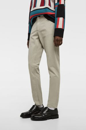 Zara COLOURED SLIM FIT TROUSERS