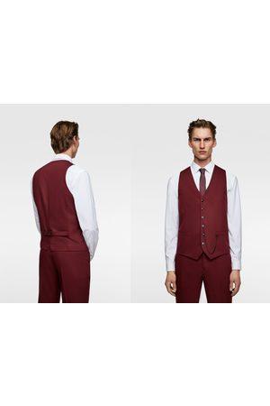 Zara Tailored chintz comfort suit waistcoat