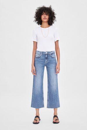 Zara Hi-rise wide-leg jeans