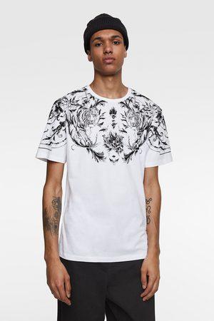 Zara Textured print t-shirt