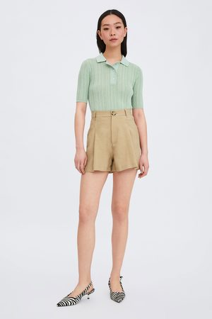 Zara Naiset Bermuda-shortsit - Pleated bermuda shorts
