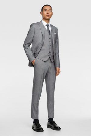 Zara Bird's-eye suit waistcoat