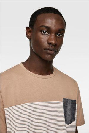 Zara T-shirt with contrast pocket