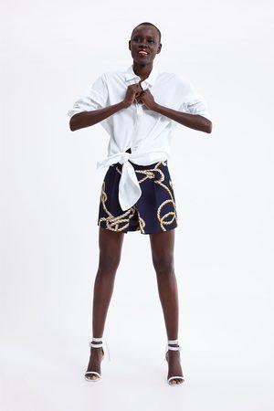 Zara Knot print bermuda shorts