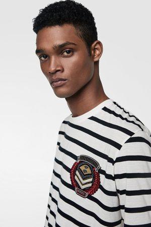 Zara Striped top with patch
