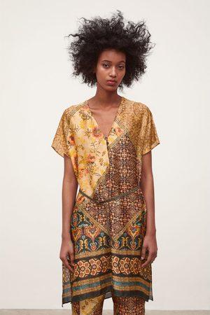 Zara Printed belted tunic