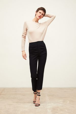 Zara Stretch trousers with gathered detail