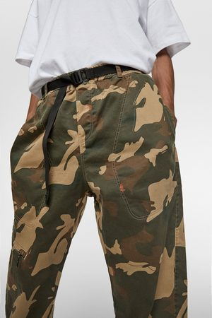 Zara Soft denim camouflage jogging trousers