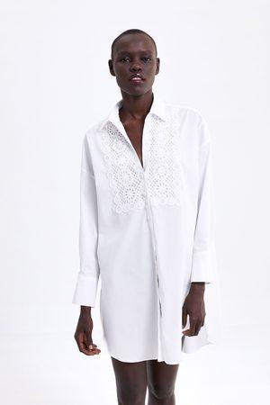 Zara Embroidered poplin tunic