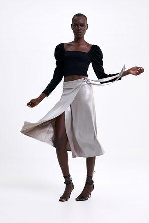 Zara Wrap skirt with bow